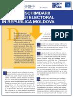 EFECTELE SCHIMBĂRII SISTEMULUI ELECTORAL ÎN REPUBLICA MOLDOVA