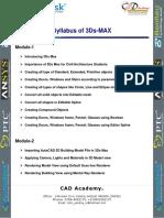 Syllabus 3Ds MAX