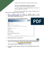 Procedimento Para Verificação Dos Arquivos GCEM