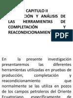 2.1. Descripción y Análisis de Las Herramientas de Completación y Reacondicionamiento