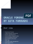 Gita Faroughi Oracle Forensic