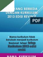 Apa Yang Berbeda Dengan Kurikulum 2013 Edisi Revisi