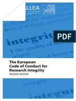 ALLEA European Code of Conduct for Research Integrity 2017 1