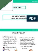 Sesion 6 Liderazgo y Negociacion 15 de Marzo 2017 La Asertividad, Expresion de Una