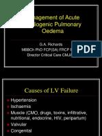 Richards - Management of Acute Cardiogenic Pulmonary Oedema