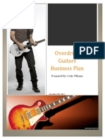 Overdrive Guitars Business Plan