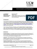 Communications and Media Policy