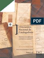 I Encuentro Nacional de Catalogadores (2008)