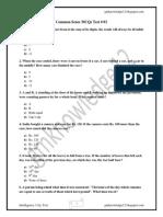 Common Sense MCQs Test # 03