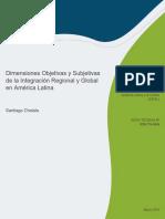 Dimensiones Objetivas y Subjetivas de La Integracion Regional y Global en America Latina (1)