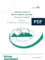 Tropical Mountain Ecossystem UNESCO