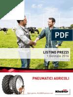 Listino Agricoltura Kleber 2016