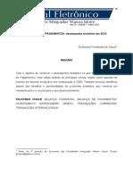 Artigo. Balanço de Pagamentos Brasil 2011