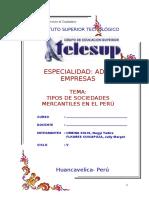 Tipos de Sociedades en Perú Monografias Telesup