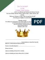 fairytale ball invite 2017 permission slip