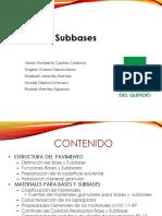 Base y Subbase Pavimentos