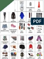 30 Ropas de Vestir en Ingles