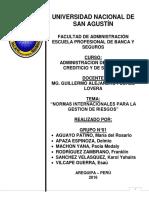 NORMAS INTERNACIONALES PARA LA GESTIÓN DEL RIESGO.docx