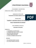 Diseño y Construcción de Un Poliducto Para Transporte de Diesel