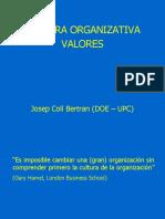 3. 1. Cultura Organizativa - Valores