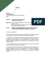 Carta 0106 - Ascensores - Absuelve Requerimiento de Pago
