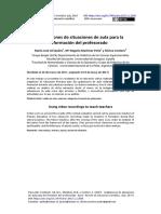 Grabaciones de situaciones de aula para la formación del profesorado 2005-6603-5-PB
