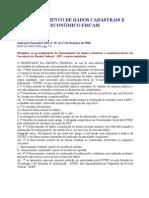 FORNECIMENTO DE DADOS CADASTRAIS E ECONÔMICO FISCAIS
