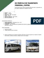 Alquiler de Vehículo de Transporte Personal
