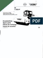 3520 Hamm Vibrocompactador manual