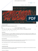 How to Set Up a Firewall With UFW on Ubuntu 14