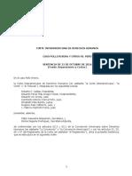 Sentencia e Interpretación Cidh Fondo Pollo Rivera