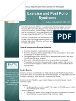 Ddsig Fact Sheet Exercise and Post Polio Syndrome