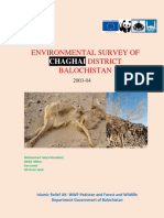 Environmental Survey of Chaghai District Balochistan