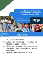 Presentación ODS - Silvia Montoya, directora del Instituto de Estadística de UNESCO