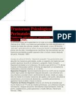 Trastornos Psicológicos Perinatales