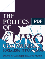 Carl Boggs, David Plotke Eds. the Politics of Eurocommunism Socialism in Transition