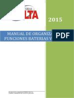 Manual de Organización y Funciones BATERIAS VOLTA 2015