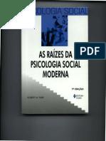 As Raízes da Psicologia Social Moderna Robert M. Farr completo.pdf