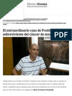 El Extraordinario Caso de Freddy, Sobreviviente Del Cáncer de Mama – Efecto Cocuyo