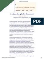 A Origem Das Opiniões Dominantes - Por Olavo de Carvalho