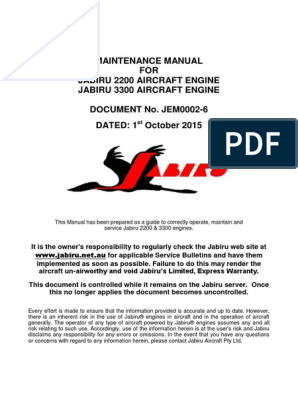 Jabiru Emm Jem0002-6 | Ignition System | Engines
