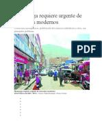 Huamanga Requiere Urgente de Mercados Modernos