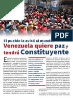 El Pueblo Le Avisó Al Mundo, Venezuela Quiere Paz y Tendrá Constituyente