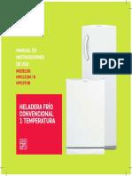 Patrick Heladera Frio Convencional 1 Temp Manual 170216