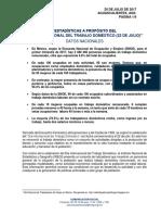 ESTADÍSTICAS A PROPÓSITO DEL DÍA INTERNACIONAL DEL TRABAJO DOMÉSTICO (22 DE JULIO)