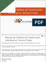 Manual de Créditos de Construcción Individual en Terreno