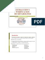 Extraccion y Purificacion de Metabolitos