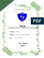 Platos Tipicos de La Sierra