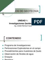 1.Investigaciones Geotécnicas