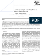 Application of a Novel Opposed Jets Contacting Device in Liquid Liquid Extraction 2002 Chemical Engineering and Processing Process Intensification